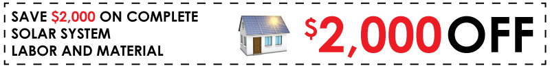 Get $2000 On New Solar Installation!